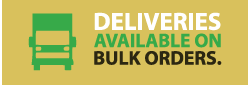 deliveries available on bulk orders